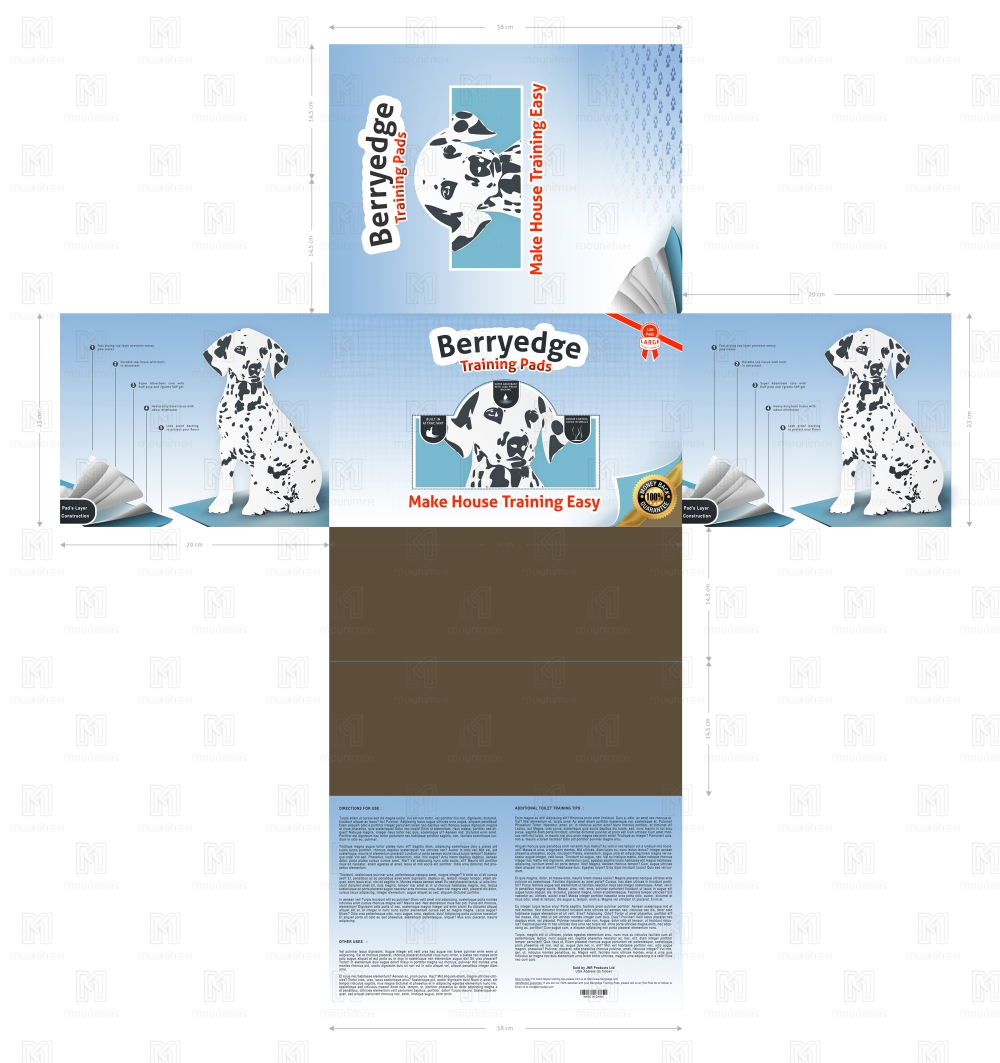 Plan of Package Design - Training Pads For Puppies